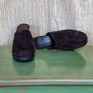 Gianni Bini Brown Suede Mules Heels